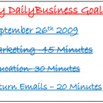 Home Business Goals